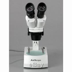 10X-15X-30X-45X Binocular Stereo Microscope with Two Halogen Lights