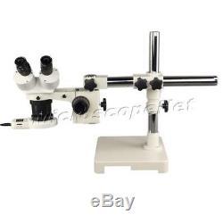 10X-20X-30X-60X Boom Stand Single-bar Binocular Stereo Microscope+54 LED Light