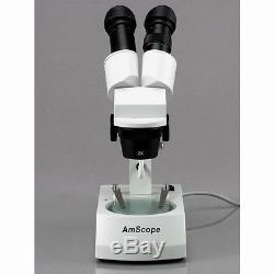 10X-20X-30X-60X Widefield Binocular Stereo Microscope with Top & Bottom Lights