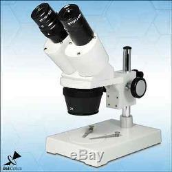 10X/20X Binocular Dual Power Stereo Microscope, Post stand