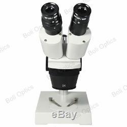 10X/20X WF Industrial Binocular Stereo Microscope Dissecting Electronic Repair