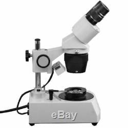 10X/30X Jewelry Gem Stereo Microscope, Binocular + Dark Field Condenser