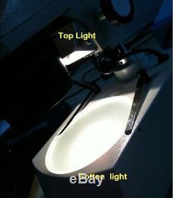 10x-20x-30x-60x Binocular Stereo Microscope Top Bottom lamp WF10X WF20X Eyepiece