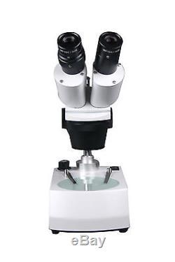 10x-20x -30x-60x Binocular Stereo Microscope w Top Bottom Pole Type Light Stand