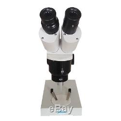 10x-20x-40x Industrial Binocular Stereo Microscope with 0.5X Barlow Lens Objective