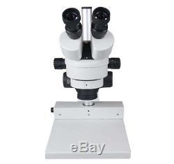 180x Binocular Zoom Stereo PCB Coin Gem Inspection Microscope w Circular LED