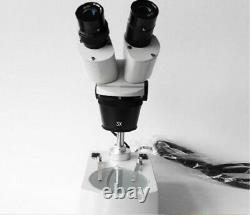 1X 3X Objective Binocular Stereo Microscope PCB Lab Inspection Wide Field