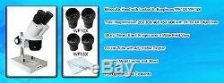 20X-30X-40X-45X-60X-80X Stereo Microscope Binocular Head with 2X 3X 4X Objective
