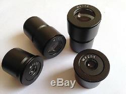 20X-30X-40X-60X-80X Illuminated Stereo Microscope with WF10X and WF20X Eyepiece