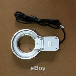20X-30X-40X-60X Illuminated Stereo Microscope w External Fluorescence Ring Light