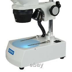20X-40X-80X Cordless Binocular Stereo Microscope with Dual LED Lights