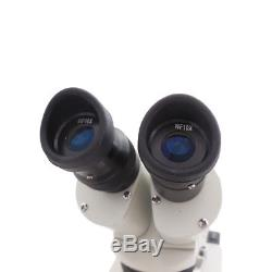 20X 40X Binocular Stereo Microscope Halogen Lamp Lighed for Repairing Inspection