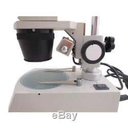 20X 40X Binocular Stereo Microscope Top Light 12V/10W Halogen Lamp Phone Repair
