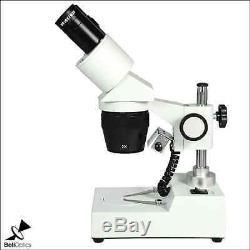 20X/40X LED Coaxial Reflection Light Binocular Dual Power Stereo Microscope