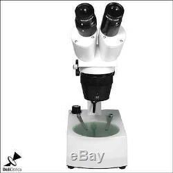 20X/40X LED Dual Illuminated Track Stand Binocular Dual Power Stereo Microscope