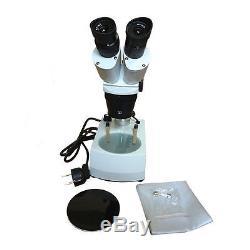 20X 40X PCB Repair Soldering LED Light Illuminated Binocular Stereo Microscope