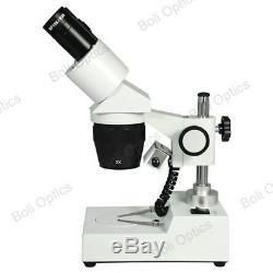 20X/40X Widefield Stereo Microscope, Binocular, Post Stand, LED Light FS12120329
