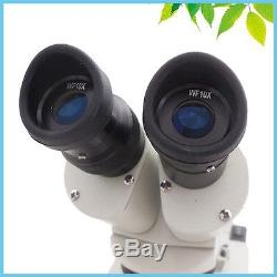 20x-30x-40x-60x Binocular Illuminated Stereo Microscope with top bottom LED lighti