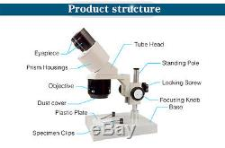 20x-30x-40x-60x Industrial Binocular Stereo Microscope f/ Mobile Clock Repairing
