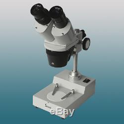 20x-30x-40x Illuminated Binocular Gem Stereo Microscope with WF10X Eyepiece