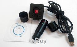 20x-40x-80x Binocular Digital Illuminated Stereo Microscope with 5MP USB Camera