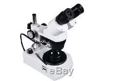 20x-40x Binocular Stereo Gemology Microscope w Darkfield & Gem Clamps