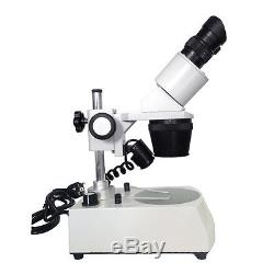 20x-40x GEM LED Illuminated Stereo Microscope with Top Bottom Light Binocular Head