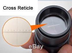 20x-40x Gem Binocular Stereo Microscope with Cross Reticle Scales 0.1mm Eyepiece