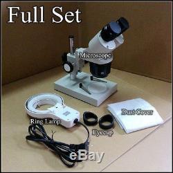 20x-40x Illuminated Industrial Binocular Stereo Microscope Phone Clock Repairing