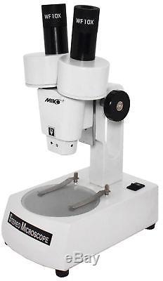 20x-binocular stereo microscope hobby microscop dissecting microscope light base