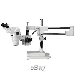 2X-225X Extreme Widefield Binocular Stereo Microscope on 3D Boom Stand