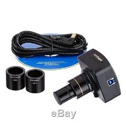 3.5X-180X Simul-Focal Trinocular Stereo Microscope + LED Fiber Optic + 18MP USB3