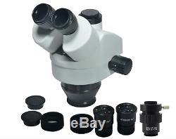 3.5X 7X 45X 90X Double Boom Stand Zoom Focal Trinocular Stereo Microscope