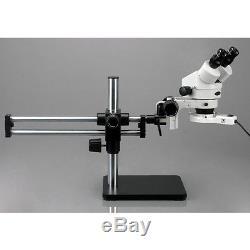 3.5X-90X Binocular Stereo Microscope w Ball Bearing Stand + Fluo Light