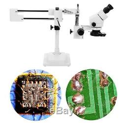 3.5X-90X Binocular Stereo Zoom Microscope on Dual Arm Stand with Ring Lamp100-240V