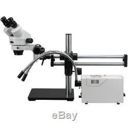 3.5X-90X Fiber Y-Light Ball Bearing Stand Binocular Stereo Microscope