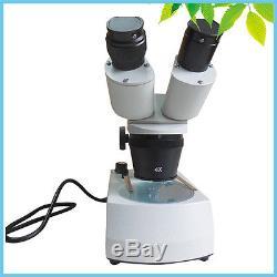 30X 60X Top Bottom Halogen Lamp Binocular Stereo Microscope for PCB Soldering