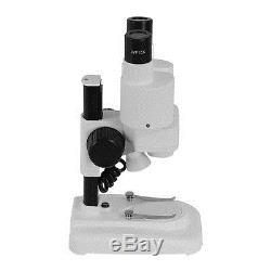 40X Binocular Stereo Microscope LED Light PCB Solder Mineral Specimen