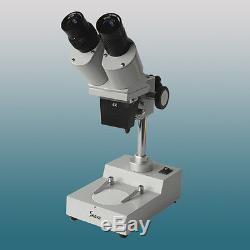 40x Optical Illuminated Stereo Microscope with 45 Degree Inclined Binocular Head