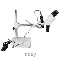 5X Widefield Stereo Microscope, Binocular, Single Arm Boom Stand, LED Top Light