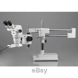 6.7X-90X Extreme Widefield Binocular Stereo Microscope on 3D Boom Stand