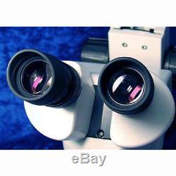 7X-180X Binocular Stereo Zoom Microscope with Dual Halogen Lights
