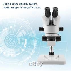 7X-45X Binocular Magnification Stereo Zoom Microscope Set 0.7X-4.5X Zoom Lens UK