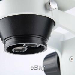 7X-45X Binocular Stereo Zoom Microscope Kit WF10X/20 Eyepieces UK Plug 3.5x-180x