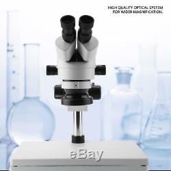 7X-45X Binocular Stereo Zoom Microscope WF10X/20 Eyepieces 100-240V AC IDM