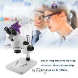 7X-45X Binocular Stereo Zoom Microscope WF10X / 20 Eyepieces Set RH