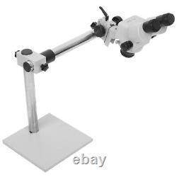 7X-45X Binocular Stereo Zoom Microscope with Arm Boom Stand Jewellers Tool Kit