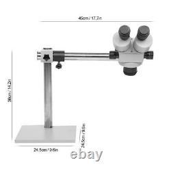 7X-45X Circuit Inspection Zoom Boom Arm Binocular Stereo Optical Microscope Tool