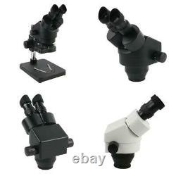 7X-45X Continuous Zoom Binocular Stereo Microscope 56 Led Light For Mobile Repai