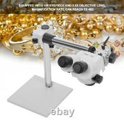 7X-45X Professional Binocular Zoom Stereo Microscope Watch Jewellery Repair Tool